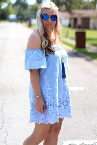 Forever Sky Blue Dress - Never Naked Boutique