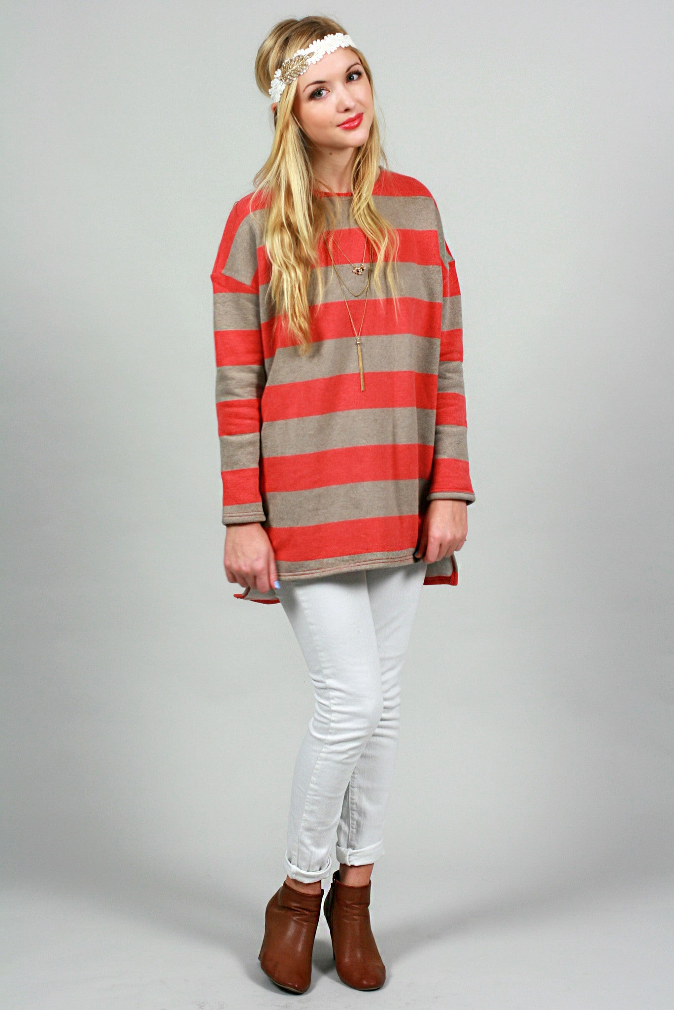 Line Up Sweater - Never Naked Boutique