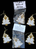 South African Beaded Christmas Tree Ornaments - Set of 6