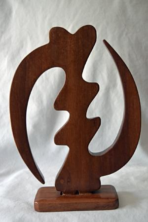 "Adinkra ""Gye Nyame"" Symbol (on attached stand)"