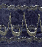 Blue Brocade (Cotton) Kufi with silver embroidery