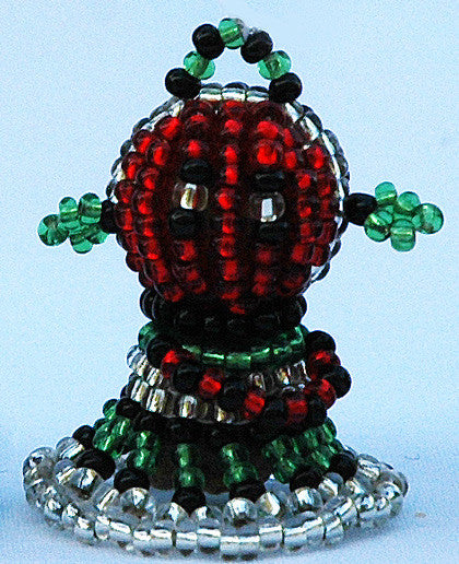South African Little Beaded Christmas Angels - Set of 6