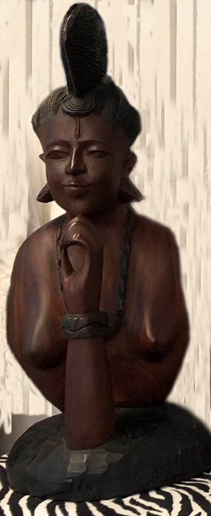 Mahogany Lady Sculpture