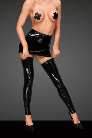 PVC Stockings With Decorative Stitching