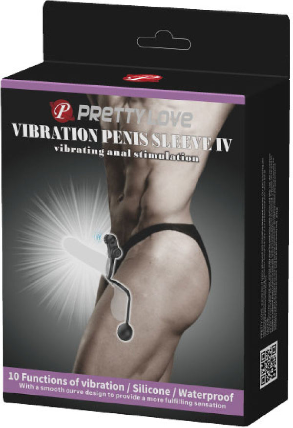 Vibrating Penis Sleeve IV (Black)