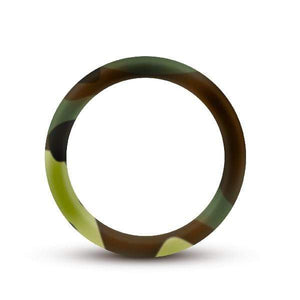 Blush Adult Toys Performance Silicone Camo Cock Ring Green Camoflauge