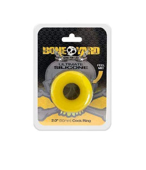 Rascal Adult Toys Ultimate Silicone Cock Ring Yellow