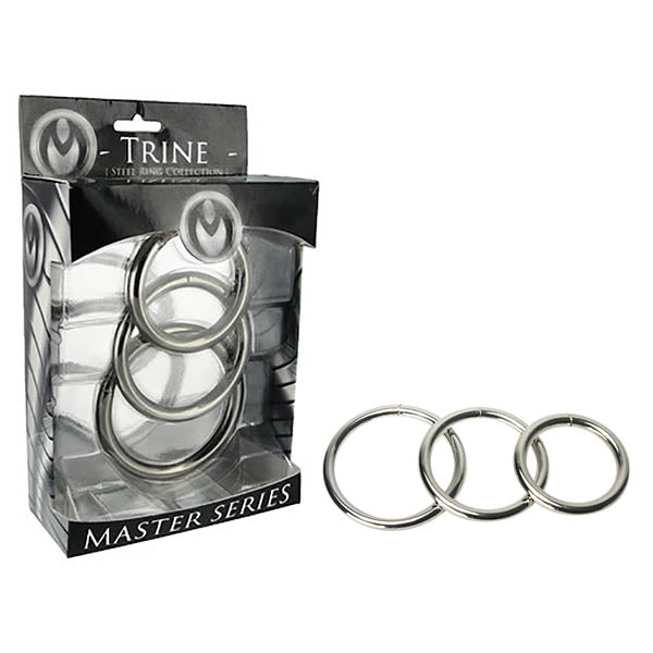Master Series Trine Steel Ring Collection