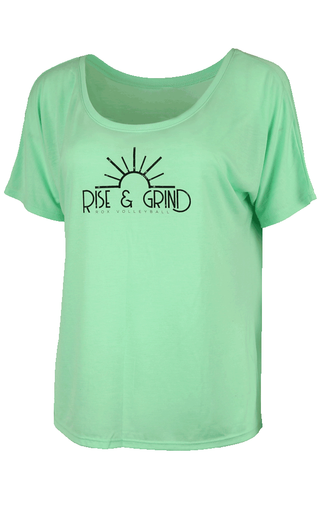 Rise & Grind Slouchy Tee,Slouchy Tee - Rox Volleyball