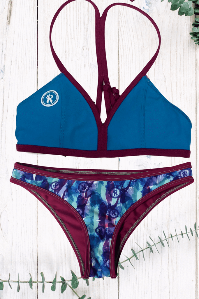 Mystify Reversible  |Jade Floral/Snob,Beach Tops - Rox Volleyball