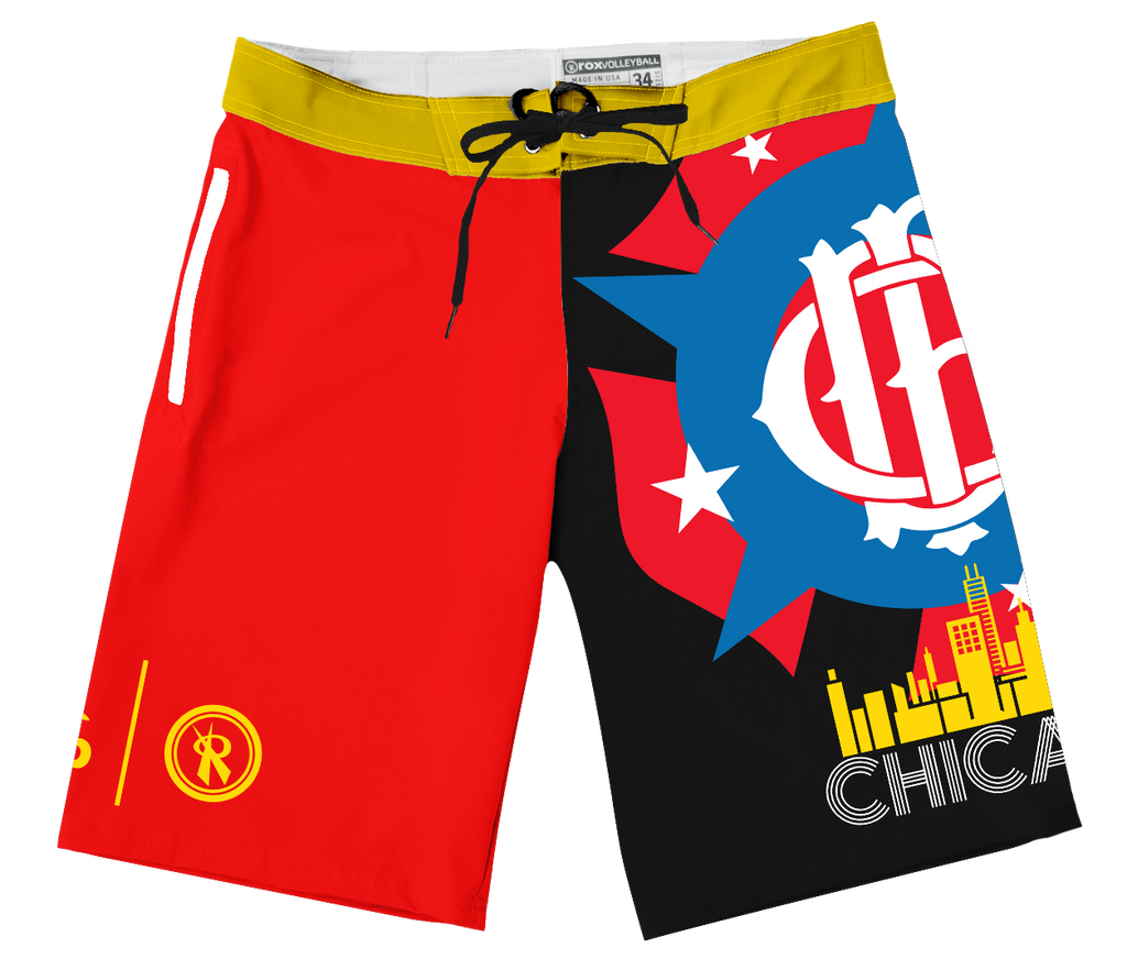 2019 AVP/RVB CHICAGO Boardshorts Limited Edition,Board Shorts - Rox Volleyball