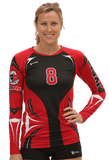 Ace Womens Sublimated Volleyball Jersey,Custom - Rox Volleyball