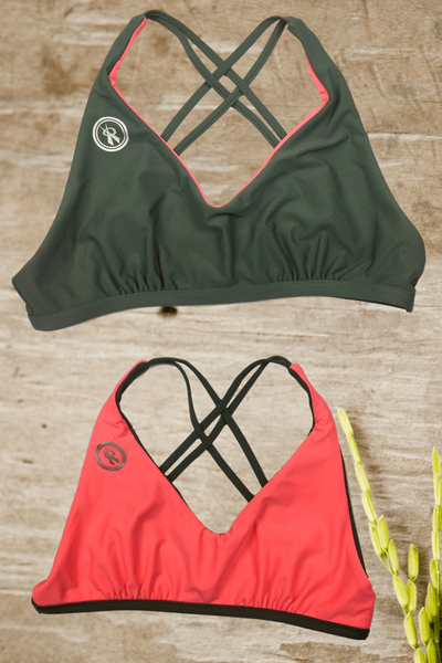 Amplify Reversible | Army/Coral| 1468.8219,Beach Tops - Rox Volleyball