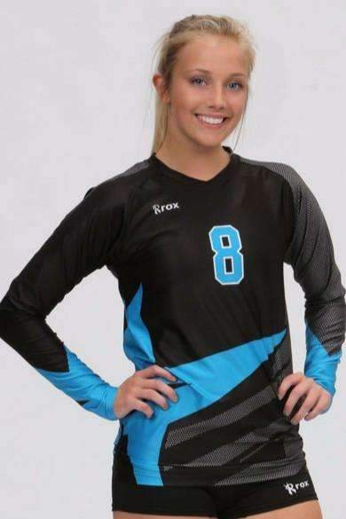 Angle Women's Sublimated Jersey | R019,Board Shorts - Rox Volleyball