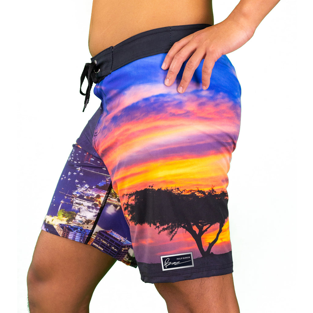 Philip Burrow Signature: South America Boardshorts 8""