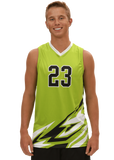 Bolt Men's Sleeveless Sublimated Volleyball Jersey,Custom - Rox Volleyball