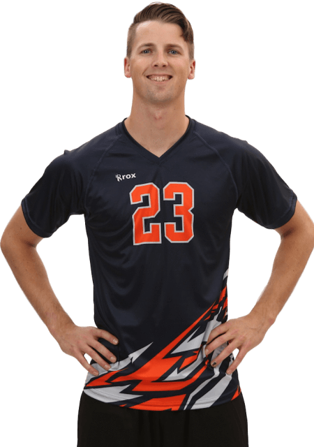Bolt Men's Sublimated Volleyball Jersey,Custom - Rox Volleyball