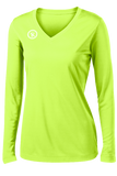 Fundamental Long Sleeve Volleyball Jersey | Neon Green,Women's Jerseys - Rox Volleyball