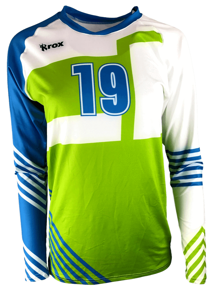 Odyssey Women's Long Sleeve Sublimated Jersey,Custom - Rox Volleyball