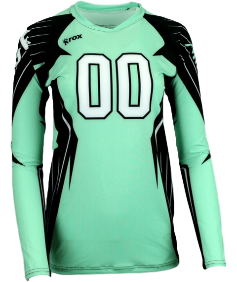 Boom Long Sleeve Sublimated Jersey,Custom - Rox Volleyball