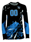 Shattered Women's Sublimated Volleyball Jersey,Custom - Rox Volleyball