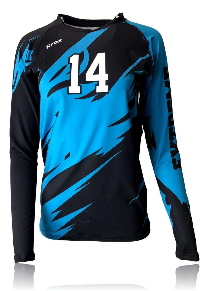 Inferno (2 COLOR) Sublimated Jersey | R022,Custom - Rox Volleyball