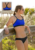 Maia Top  | 1466 | Royal/Black,Closeout - Rox Volleyball