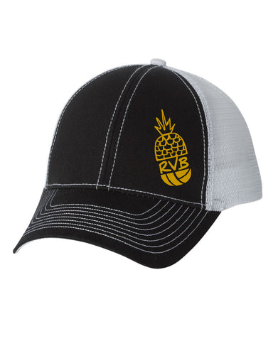 Trucker Cap Pineapple Two Tone Black/Grey Twill