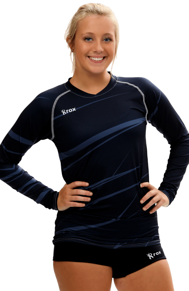 Monochrome Navy Volleyball Jersey | 1111,Women's Jerseys - Rox Volleyball