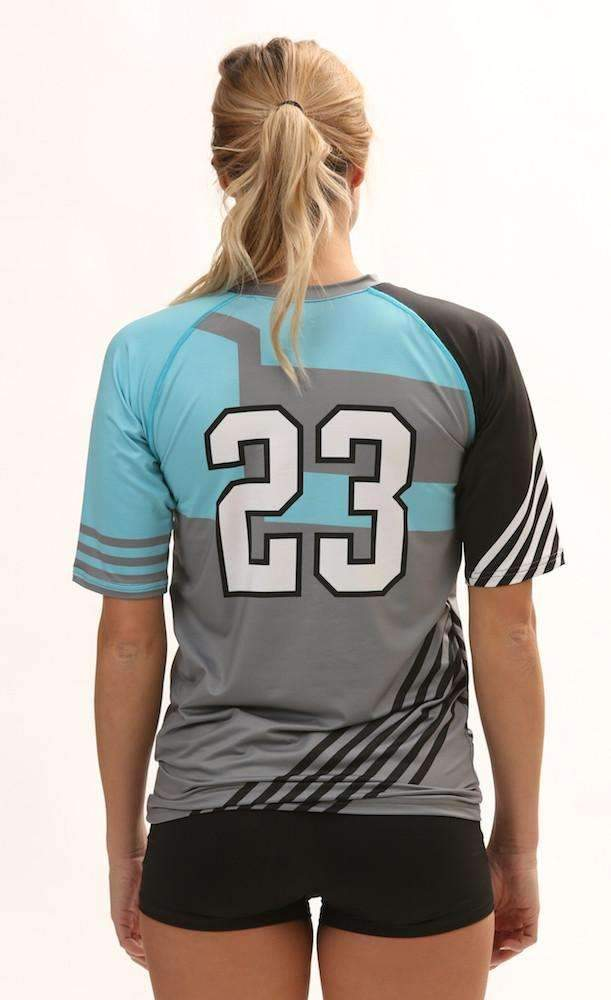 Odyssey Women's Half Sleeve Sublimated Jersey,Custom - Rox Volleyball