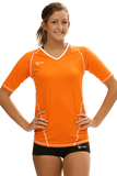 Compliant 1/2 Sleeve Jersey | 1365 Orange,Women's Jerseys - Rox Volleyball