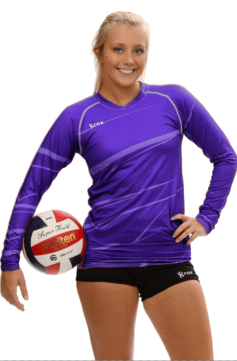 Monochrome Purple Volleyball Jersey | 1111,Women's Jerseys - Rox Volleyball