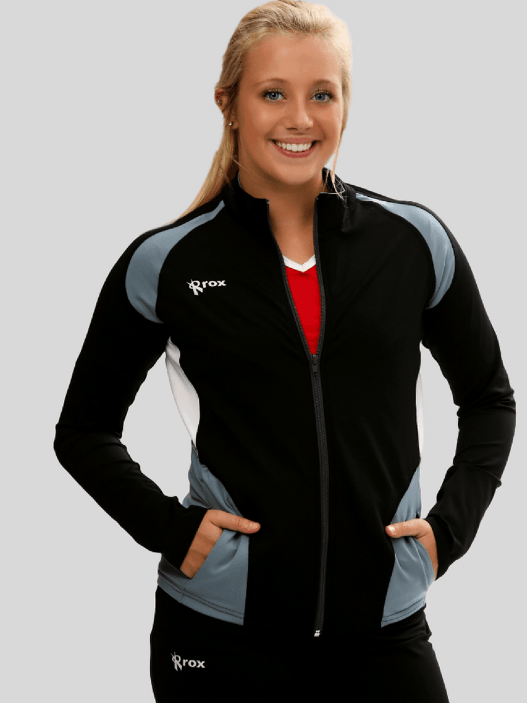 Push 1 Womens Volleyball Jacket | Black | 1372