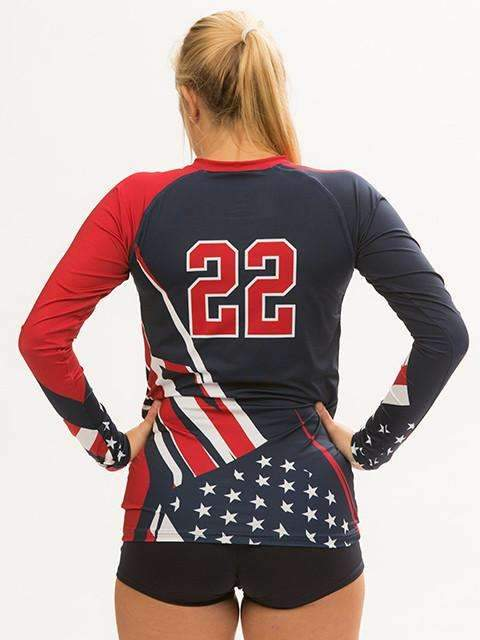 Patriot Women's Sublimated Jersey | R026,Custom - Rox Volleyball