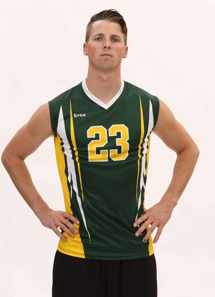 Quantum Men's Sleeveless Sublimated Jersey,Custom - Rox Volleyball