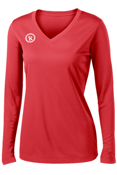 Fundamental Long Sleeve Volleyball Jersey |RED,Women's Jerseys - Rox Volleyball