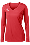 Fundamental Long Sleeve Volleyball Jersey | Red,Women's Jerseys - Rox Volleyball
