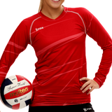 Monochrome Red Volleyball Jersey | 1111,Women's Jerseys - Rox Volleyball