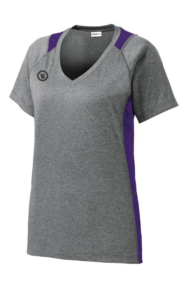 Womens Heather Color Block Contender Short Sleeve | LST361