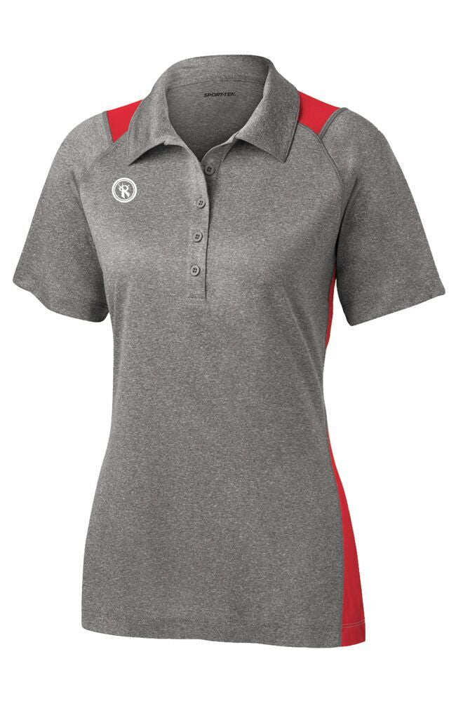Womens Heather Block Contender Polo | LST665