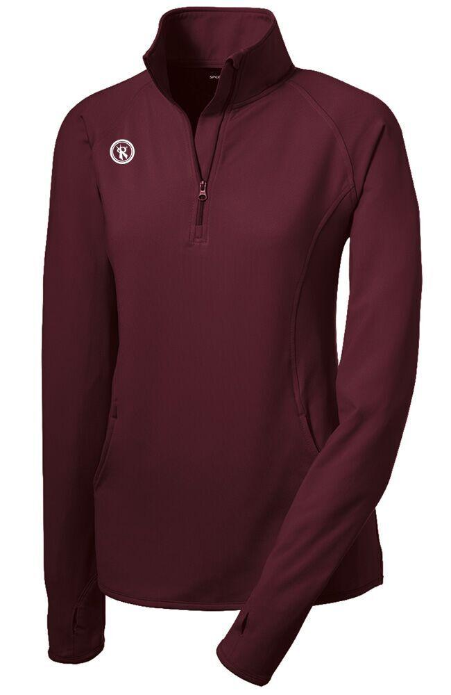 Womens Sport Wick Stretch 1/2 Zip Pullover | LST850