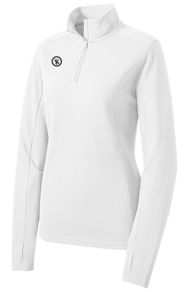 Womens Textured 1/2 Zip Pullover | LST860