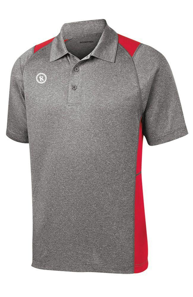 Mens Heather Colorblock Contender Polo | ST665