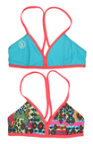 Mystify | 1471  | Kendalls Kandy/Hawaii/Salmon Reversible,Beach Tops - Rox Volleyball