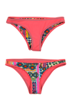 Rhapsody | 1444 | Salmon/Kendall's Kandy Reversible,Beach Bottoms - Rox Volleyball