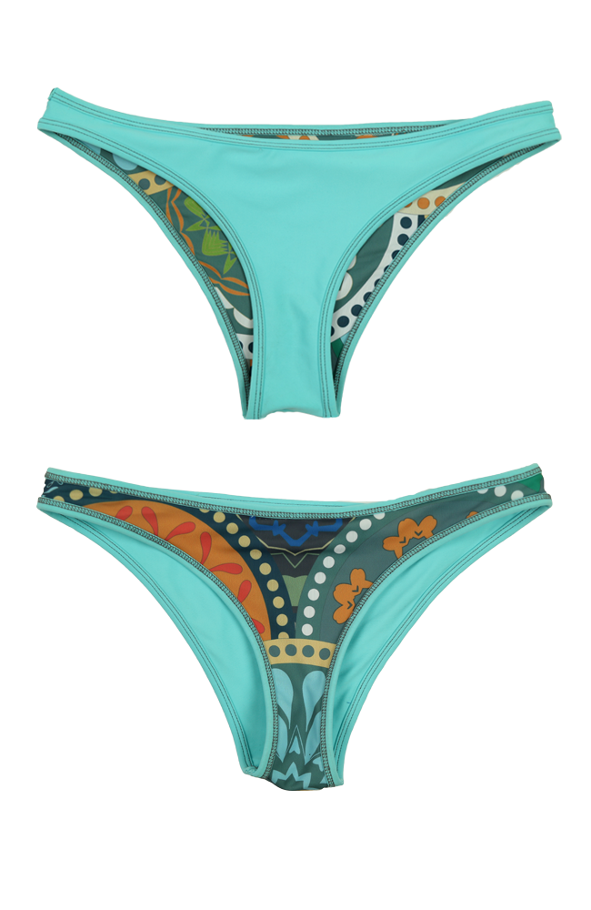 Rhapsody | 1444 | Marine/Rize Reversible,Beach Bottoms - Rox Volleyball