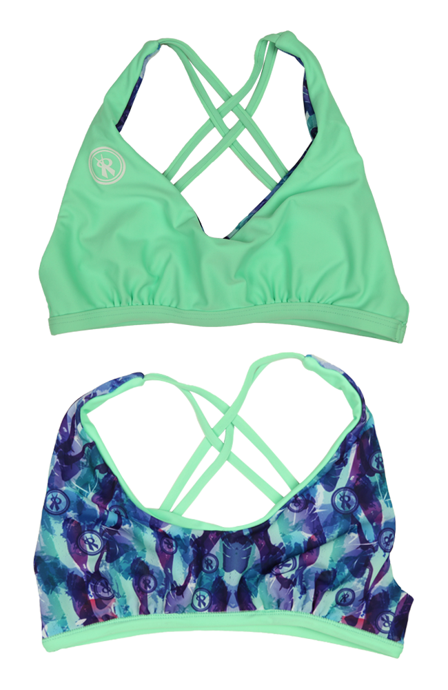 Amplify | 1468 | Brooke/Menthol Reversible,Beach Tops - Rox Volleyball