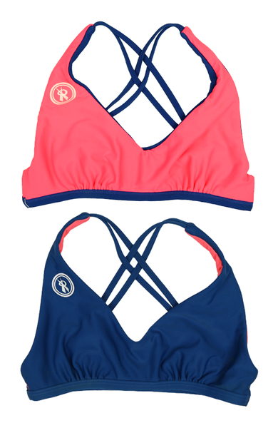 Amplify | 1468 | Cicladi/Salmon Reversible,Beach Tops - Rox Volleyball