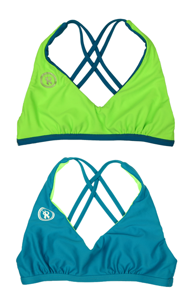 Amplify | 1468 | Jade/Electric Green Reversible,Beach Tops - Rox Volleyball