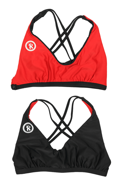 Amplify | 1468 | Black/Red Reversible,Beach Tops - Rox Volleyball